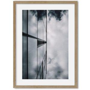 Art poster gebouw glas