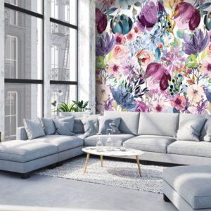Behang bloemen Colorful 7296