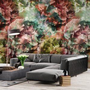 Behang bloemenpatroo 7293