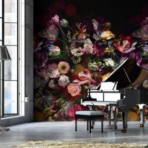 Behang bloemenpatroon