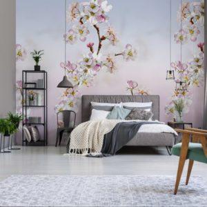 Behang met bloemenpatroon 7297
