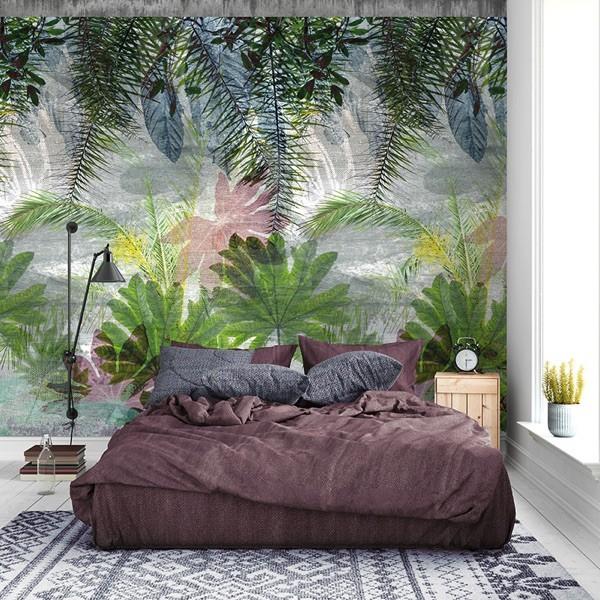 Behang met plantenpatroon