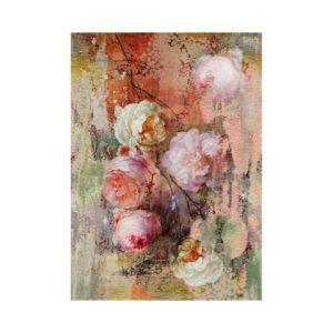 Behang roze bloemen