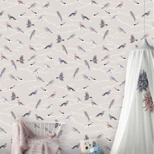 Behang vogeltjes 7425