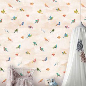 Behang vogeltjes 7433