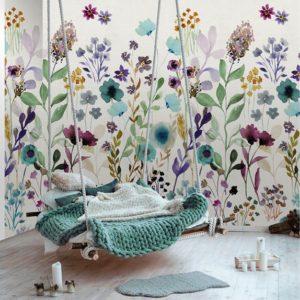 Bloemen behang 7281