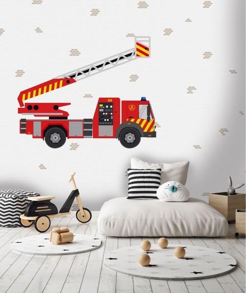 Brandweer behang 7437