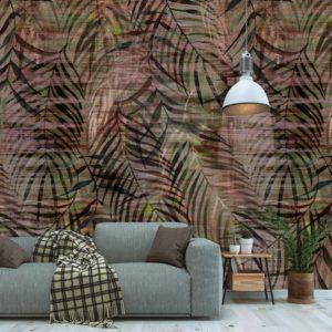 Fotobehang planten patroon