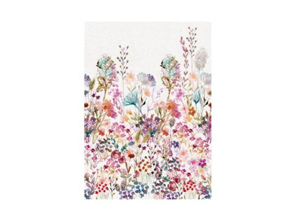 Gekleurde bloemen behang