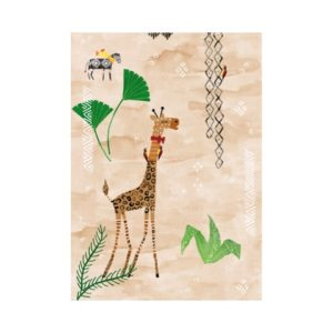 Giraffe behang