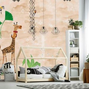 Giraffe behang 7457