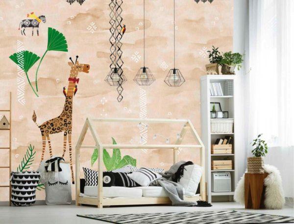 Giraffe behang