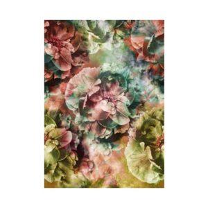Grote bloemen behang