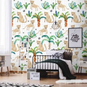 Luipaard behang