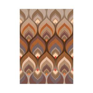 Retro behang bruin