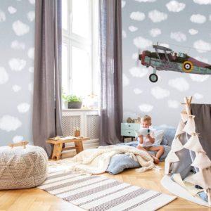 Vliegtuig behang 7444
