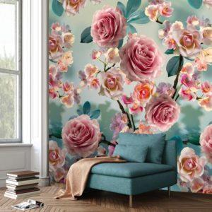 behang bloemetjes 7294
