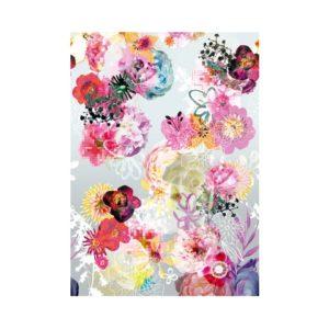 behang met bloemenprint