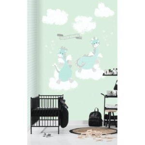 draken en wolken behang
