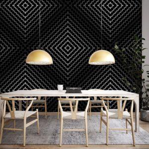 Hypnotiserend zwart & wit behang