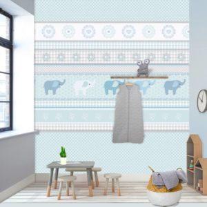 Behang met olifanten