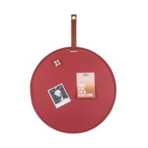 Rond memobord perky rood