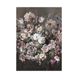 Vintage bloemen behang