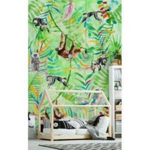 Behang met apen