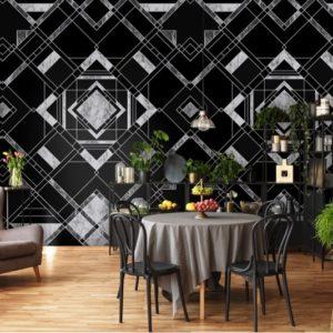 Zwart Marmer behang