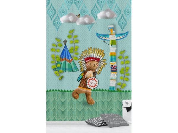 Indianen behang