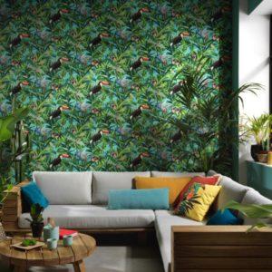 Tropisch behang
