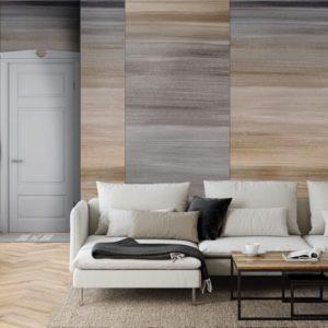Abstract behang grijze vlakken