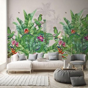 Jungle behang groen