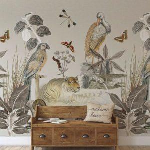 Behang met dieren