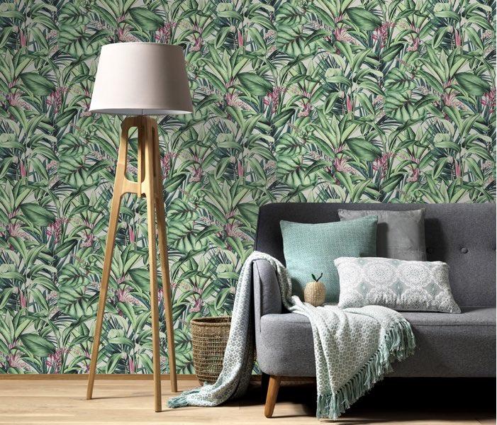 Tropsiche planten behang