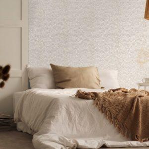 Witte veren behang