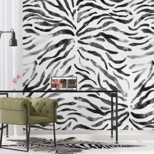 Zebrabehang zwart wit