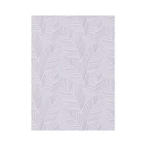 Zilvergrijze bladeren behang