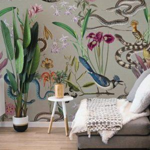 Jungle dieren behang
