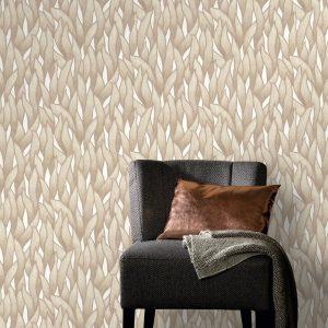 beige behang patroon