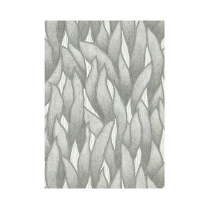 Blaadjes behang grijs