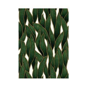 Blaadjes behang groen 1