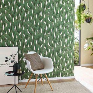 groen bladeren behang