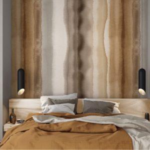 Bruin Scandinavisch behang