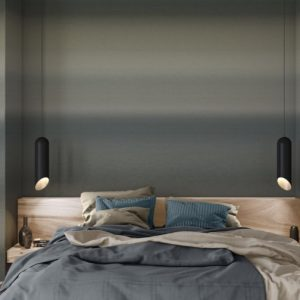 Scandinavisch behang donkerblauw