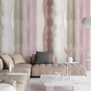 Scandinavisch behang roze