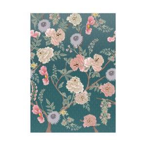 Behang blauw bloemen 2