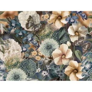 Behang met grote bloemen