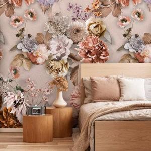 Behang wilde bloemen