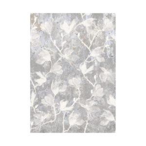 Bloemen behang wit